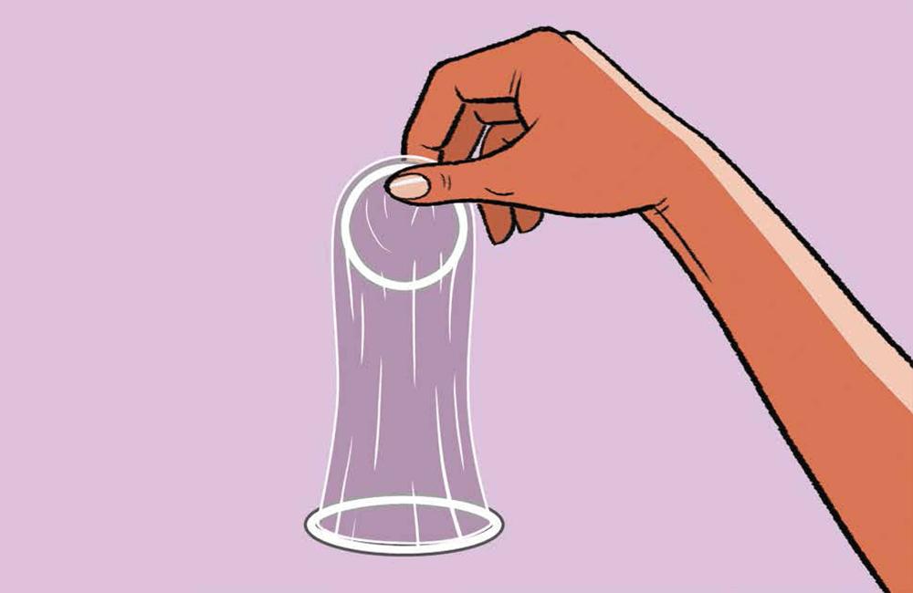 Female condom use