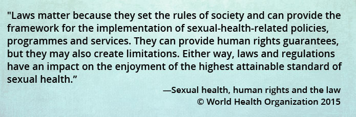 Statement on sexual health from the World Health Organization