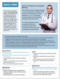 Checklist for healthcaare providers